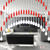 Olive crystal bead curtain crystal curtains bead curtain finished product curtain entranceway anode-screening bead curtain door