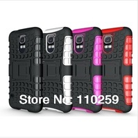 Mix Color Spider 2 In 1 Hybrid Stand PC TPU Hard Case for Samsung Galaxy S5 SV i9600 100pcs/lot