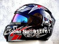 M star light helmet helmet 815 MASEI electric motorcycle helmet jie surface black skeleton demon ghost head