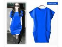 New Arrive M L XXXL Classic best-selling  Spring  Women's woolen Dress Sweaters Casual Pocket Jersey Dresses For Women