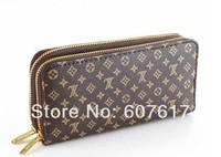 Women's  Wallet Clutch bag women's wallet double zipper wallet free shoppingt free shipping!