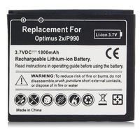 100pcs/Lot High Capacity 1800mAh Rechargeable Battery For LG Optimus 2x P990