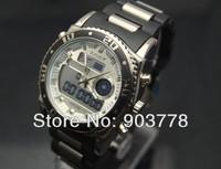 1pc/lot freeshipping hot sale digital&quartz dual movement sports watch,3ATM 30M water proof,Japan imported quartz movement