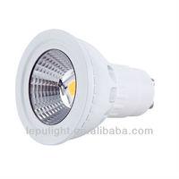 Free shipping high bright warm sunshine dimmable led bulb CRI>85 5000k COB-GU10-5W lamps