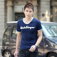 New Arrival Summer T-Shirt  Multicolor Round Collar Leisure Tight Type Short Sleeve Men's Top