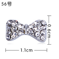 Nail art kalyptolith Alloy Stick Accessories Diy Finger Sparkling Diamond Decoration Bow Rhinestone Pasted Supplies 20pcs/ lot