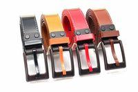 10colors women Belts Men Belts Waist PU leather Smooth Buckle Hard Plastic Buckle Casual New Design
