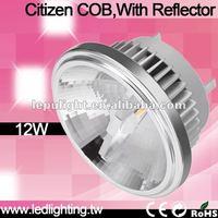 High bright CRI 92 Led AR111 G53 12W 2700K/3000K/4000K/5000K Beam Angle 15 Citizen LED CRI 85 bulb