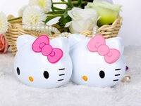 Hello Kitty 6000mAh Mini Portable Power Bank Backup Battery  With LED Torch Rose Red Color For iPhone 4 4S/5S All SmartPhone