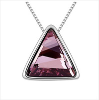 New 2014 Hot Vintage Big Size Necklaces Pyramid Fashion Bijoux 18k Gold Plated Chain Crystal Jewelry Items Bijouterie Necklace