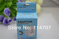 10pcs/lot Universal World AC Power Socket Plug Adapter US EU UK AU extension International travel outlet,Free shipping