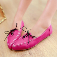 big size us 4-11 wholsale spring new casual style pointed toe women flats knot fashion shoes 4 colors T1XW-318