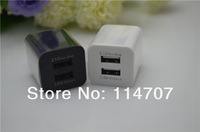 20pcs/lot 2.1A Dual USB port EU USB Wall Charger AC Adapter for ipad/iphone/ipod and other digital product free shipping