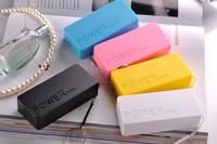 20pcs/lot 5600mAh USB External Backup Battery Power Bank for iPhone iPod Samsung HTC + Micro usb cable + Retail box Perfume 2th