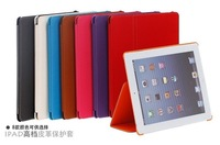 NEW Cowboy Grain PU Leather Case For Apple iPad 2 3 4 Flip Smart Cover Case ,8 Color ,Gift Screen Protectors.