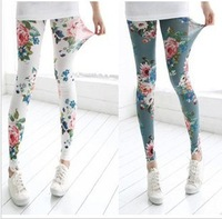 Female 2014 spring legging fashion slim all-match flower legging