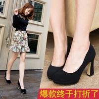 2014 autumn ol platform high-heeled shoes thick heel high-heeled shoes work shoes formal shoes