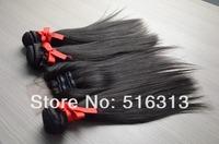 Brazilian Virgin 4pcs Lot with 3 way Part LaceClosure With 3pcs Hair Bundles Unprocessed Human Virgin Hair Extension straight