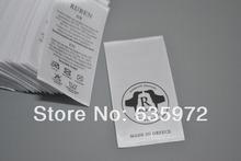Печать ярлыке этикетка, Атлас материал, Разрезать кусок, Одежда аксессуары