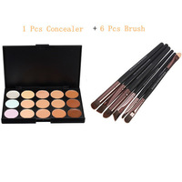 2014 New Cosmetic Beauty Set Kit 15 Color Neutral Makeup Eyeshadow Concealer Palette IN One + 6 Pcs Pro Makeup Brush