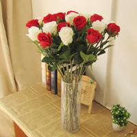 High artificial single rose flower artificial flower home decoration silk flower bowyer