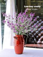Single lavender floral silk flower rustic artificial flower plants home accessories