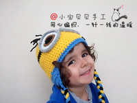 Handmade knitted small style baby hat minion milk hat parent-child  Free shipping