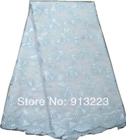 African Swiss Voile Lace High Quality 100% Cotton Lace Fabric Free Shipping D130-8