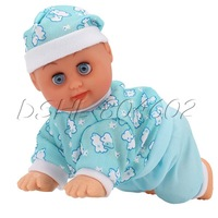 Crawling Baby Electric Doll Clever Baby Toy English Songs Dance for Learn Crawl
