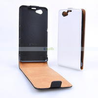 100pcs/Lot Genuine Leather Case for Sony Xperia Z1 Compact Z1 Mini Genuine Vertical Flip Case by DHL