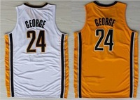 Indiana Paul George #24 White stripe sport basketball jersey stitched wholesale&retail top quality New Material