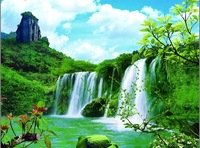 30*40cm New 2014 PET 3D Lenticular High Definition Wall Decor Art Painting of Landscape