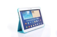 Free Shipping Ultrathin Magnetic Business Book Stand Smart Case Cover For Samsung GALAXY Tab 3 10.1 For P5200 +Free Stylus