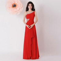 New arrival 2013 propose a toast the bride formal dress oblique trailing formal dress formal dress