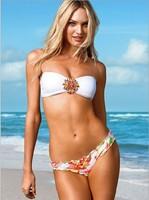 2014 Fashion Womens Bikini Set Swimwears Vintage Swimsuits for Women Sexy New Bathing Suit Crystal Brand Bikinis Rhinestones3076