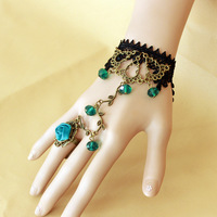 Free Shipping New Design Sexy  Hand Chain Bracelet With Finger Ring BL016