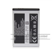 800mAh AB463446BU cell mobile phone FOR SAMSUNG X208 battery free singapore air mail with retail