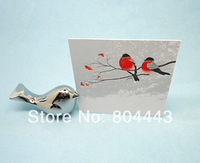 Free shipping  100pcs/LOT Wedding favor Love Bird Card Holder Favors with Brushed Silver Finish to US and EUR country by FEDEX