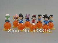 Mini Dragon ball Z Action Figures PVC Toys goku do dragon ball z 8pcs/Set Free Shipping