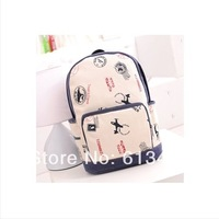 Plane 2014 new fashion backpack for school shoulders bags tote travel bags canvas high quality hot selling handbag