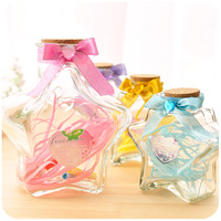 Hearts . five-pointed star glass wishing bottle star bottle adrift bottle ascendent bottle Large Small