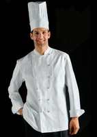 [10 pcs] Work wear clothes kitchen clothes long-sleeve cook suit long-sleeve customize 15  cooker long shirt cook jackets
