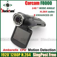 """Top Sell!Car DVR F8000 FullHD real 1080 30fps 2.0"""" LCD CMOS Ambarella 5.0MP Car Camera Camcorder 120 Degree HDMI  Free shipping"""