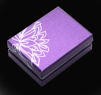 Size 9 x 6.6 x 3..1cm Wholesale Fashion High Quality Purple Jewelry Box Package Gift Box  Ring/Necklace Box AP13-BWHPP31