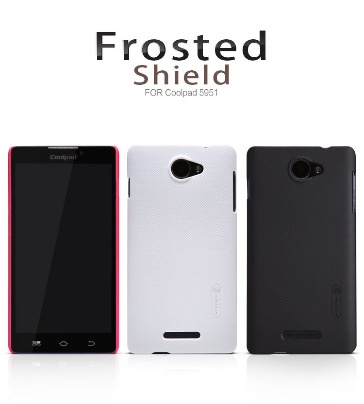 Nillkin Brand Product Dull Polished Super Frosted Shield Case for Coolpad 5951 +1pcs Screen Protective Film, free shipping(China (Mainland))
