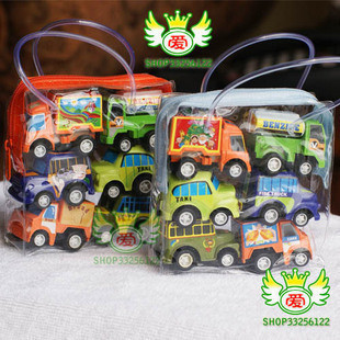 2014 hot sale cars pixar 6pcs/bag mini toy scale models kids toys car model baby classic pull back cars for chilren bus products(China (Mainland))