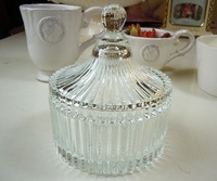 Clear Glass Storage Candy Jar With Lid For Home and Wedding Gift