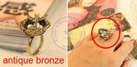 rings finger Fashion popular Jewelry for women Girl's vintage bird's home design adjustable CN post