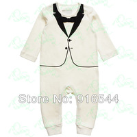 Baby Toddler Kids Boys' Formal Classical Suits sets Romper With Bow Tie Outfit 0-36M