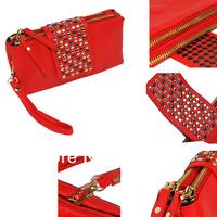 Hot Women Korean Style Purse Wallet Bag Faux  Leather Rivet